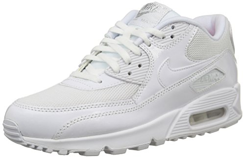 Nike WMNS AIR MAX 90 PREM, Damen Sneakers, Weiß