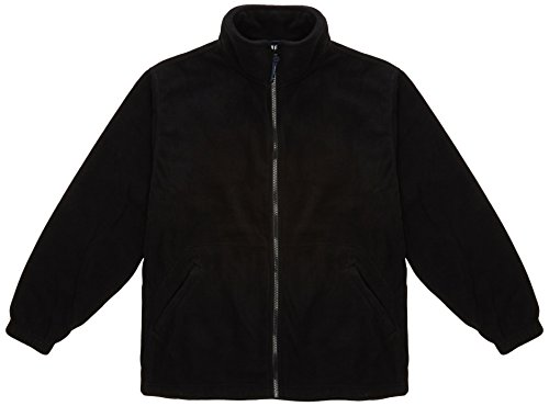 Uneek UC604 negro – LARGE Negro Chaqueta De forro polar 92ce4ca7e5735