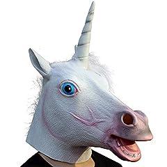 Idea Regalo - Original Cup - Maschera Divertente in Lattice, Maschera di Animali, Durevole, di Alta qualità e realistica - Stile Unicorno