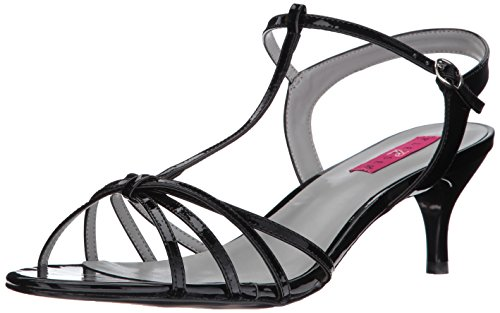Pleaser Pink Label Damen Kitten-06 Sandalen mit Absatz Black (Blk Pat)