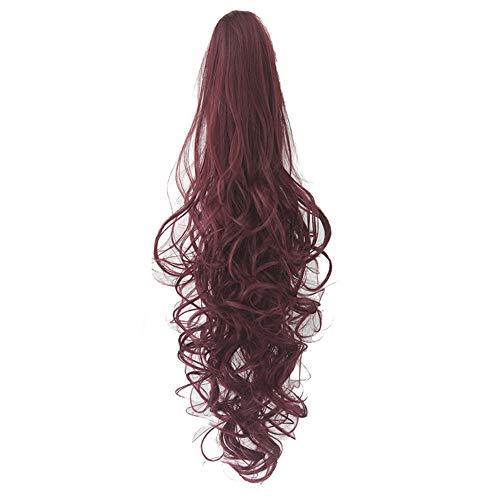 Saingace Damens Girls Lange Locken Wellenförmige Pferdeschwanz Perücken Klaue Clip Pony Tail Hair ()