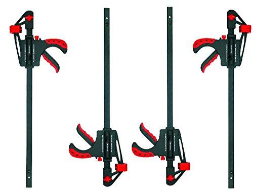 Proteco-Werkzeug® Set 4 Stück Schnellspannzwingen 300 mm x 63 mm Einspanntiefe Einhandzwingen Spreizzwingen Spannzwingen Schraubzwingen