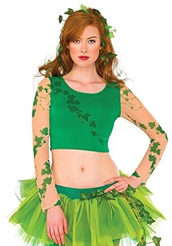 Rubies Womens Poison Ivy Crop Top Shirt S/M