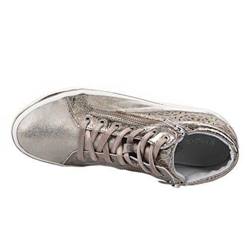 Baskets mode femme - KHRIO - Beige dore - 1220 - Millim Beige