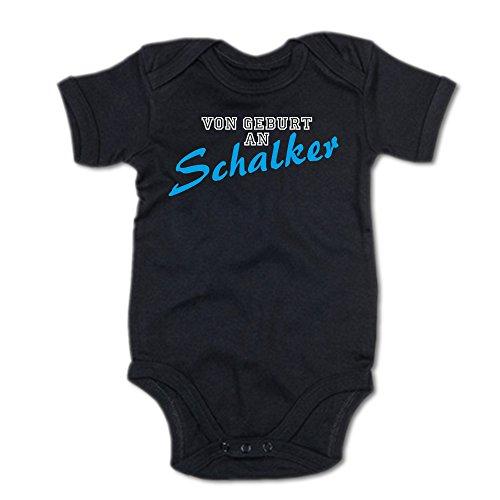 G-graphics Von Geburt an Schalker Baby-Body (250.0091) (6-12 Monate, schwarz)