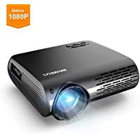"WiMiUS Projector 1080P, 5500 lumen Video Projector HD 1080P with Native 1920x1080P Electronic 4D ±50°Keystone Correction LED Projector Support 4K 300"" LCD Projector Compatible Smartphone,TV Box"