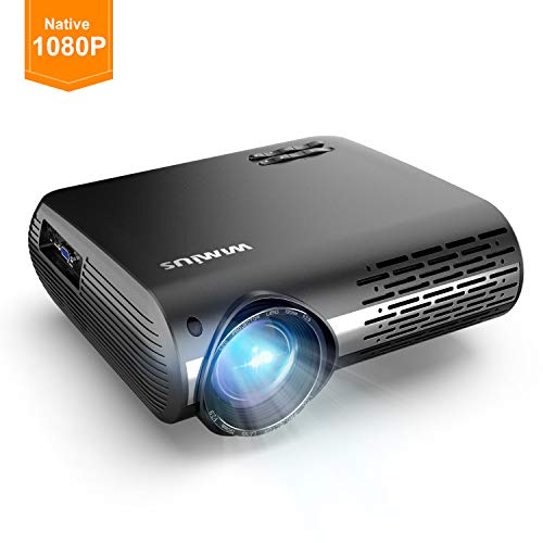 WiMiUS Projector 1080P, 5000 lumen Video Projector HD 1080P with Native  1920x1080P LED Projector 300