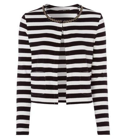 zero Damen Jersey Cardigan mit Schmuckapplikation 306690 black 42