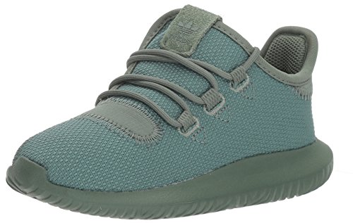 adidas Originals Boys' Tubular Shadow I Sneaker, Trace Green/Trace Green/Tactile Yellow, 10 Medium US Toddler