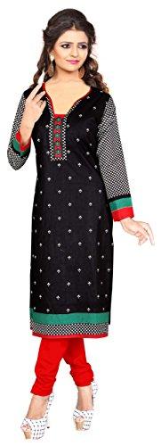 Nakoda Creation 3/4 sleeve Printed V-Neck Cotton Kurti for Women,Multicolor