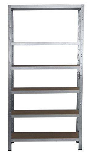 Steckregal 230x100x60 cm verz. 6 Böden Regal Kellerregal Metallregal Lagerregal Fachbodenregal Regalsysteme