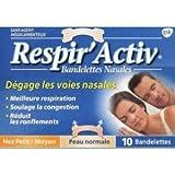 Respir'Activ 10 Bandelettes Nasales Couleur Peau