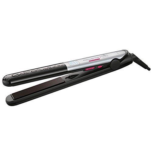 Rowenta SF4522 Warm hair straightener Negro, Color blanco alisador de cabello - Plancha de pelo (Negro, Color blanco, 25 mm, 110 mm)