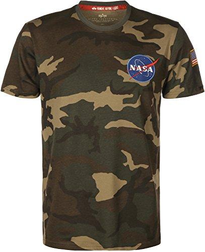 Alpha Industries Space Shuttle T-Shirt Camouflage L (Industrie-kurzarm-baumwolle)