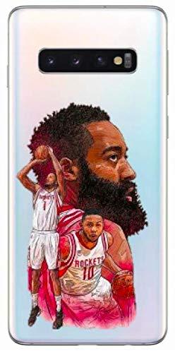 Art Design Hülle für Samsung Galaxy S10e / S10 Lite James Harden 13 Rockets de Houston Tete Basketball NBA Soft Silikon
