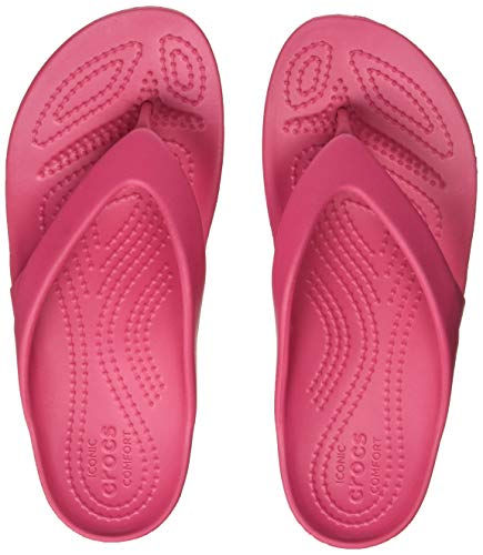 Crocs Kadee II Flip Women, Damen Zehentrenner, Pink (Paradise Pink), 39/40 EU - Pink Womens Beach-crocs