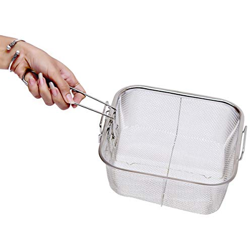 Frying Square Basket Strainer Plating Wire Mesh Fryer Tools with Handle