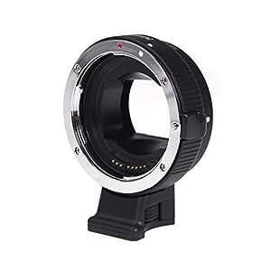 Andoer auto focus–Adattatore per obiettivi di fotocamere, colore: nero