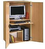 Büroschrank Buche BV-VERTRIEB PC Schrank Computerschrank Buche - (813)