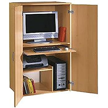 Büroschrank Buche dekor - PC Schrank - Computerschrank Buche dekor ...