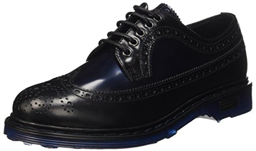 Cult Sabbath, Scarpe Brogue Stringate Donna, Nero (Black/Blue), 38 EU