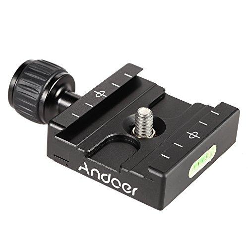 Andoer Adapter Piatto Quadrato Pinza Con torcia per piastra a sgancio rapido per treppiedi Ball Head Arca Swiss RRS Wimberley -