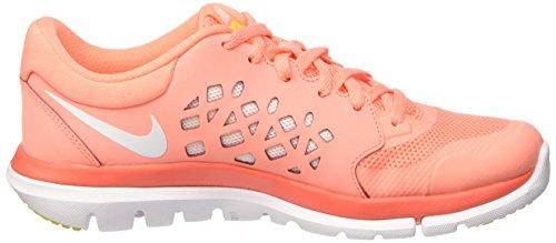 Nike Flex Run 2015, Running Femme Rose (Atomic Pink/White/Hyper Orange/Optic Yellow)