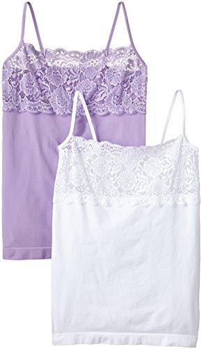 Luigi di Focenza Damen Unterhemd 1690, 2er Pack Violett (flieder-weiß 768/099)