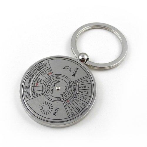Preisvergleich Produktbild MENGS® Mode Form des Autos Schlüsselanhänger zweiseitiger ewiger Kalender Schlüsselring cochleare Ring Schlüsselanhänger
