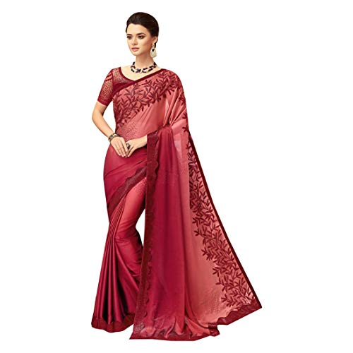 ETHNIC EMPORIUM Saree Sari Abbigliamento da Festa di Design indiano con Camicetta Originale da Donna Indiana Bollywood da lavoro Women 8142
