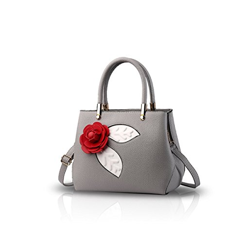 Bilis, Borsa a mano donna Red Wine small Light Grey