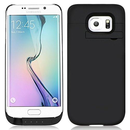 Zogin Coque Batterie Externe Ultra-Fin 4500mAh Rechargeable pour Samsung Galaxy S6 Edge G9250 Étui Chargeur de protection - Noir