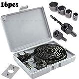 Inditrust 16pcs 19-127mm Hole Saw set Cutter Set Kit Cutting Tool