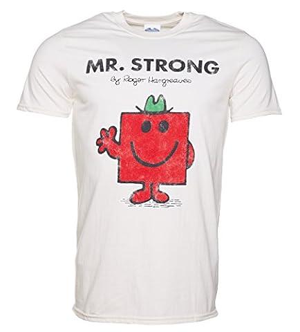 Mens Off White Mr Strong Mr Men T