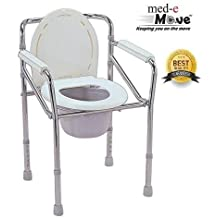 Mede Move Height Adjustable Commode Chair - Blue