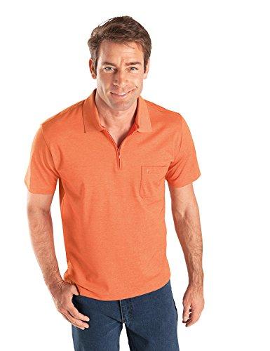 RAGMAN Herren RAGMAN Kurzarm Poloshirt Softknit Orange