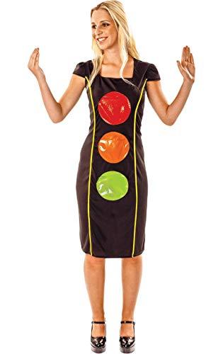 Erwachsene Frauen Komödie Ampel Neuheit lustiges Verkleidung Kostüm Medium