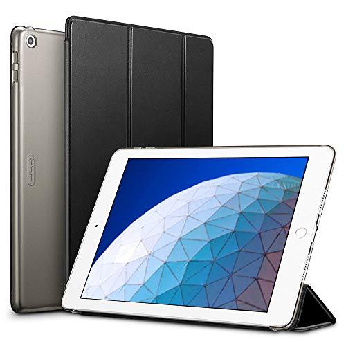 ESR Hülle kompatibel mit iPad Air 3 2019 10.5 Zoll - Ultra Dünnes Smart Case Cover mit Auto Schlaf-/Aufwachfunktion - Kratzfeste Schutzhülle für iPad Air 3th Generation - Schwarz