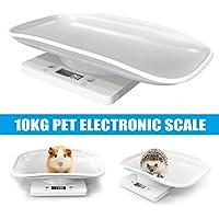 Crewell Digitale Haustierwaage mit Hintergrundbeleuchtung tragbar f/ür Hunde und Katzen multifunktional