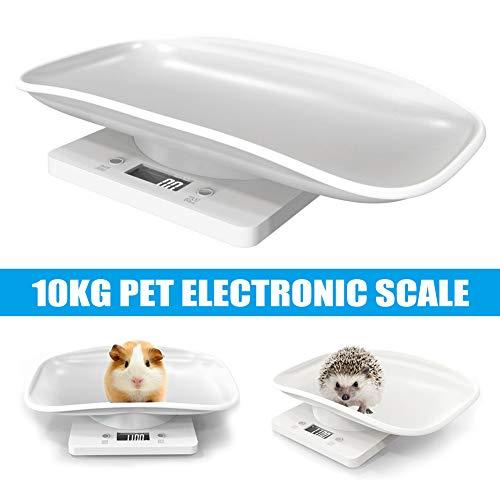 Características: Es una báscula digital multifunción para mascotas pequeñas. Rango de escala: 10000 g, mínimo 1 g. Unidad: g/ml/oz/lb oz. Pantalla LCD HD con retroiluminación blanca, garantiza una clara medición. Apagado automático cuando no se utili...