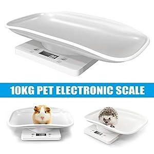 Proglam Digitale Haustierwaage mit Hintergrundbeleuchtung, multifunktional, tragbar für Hunde und Katzen