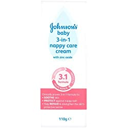 JOHNSONS BABY 3-IN-1 NAPPY CARE CREAM - 110G