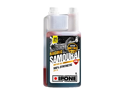 Huile moteur IPONE Racing Samouraï 2T - Senteur Fraise - 1 Litre