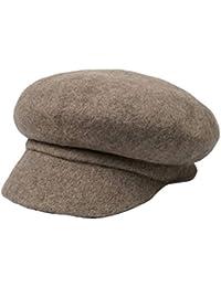 Feiboy Mujeres Moda Boina Senora Color sólido Sombrero Señoras Estilo  Simple Gorra Otoño Invierno Hats Woman 25d80c44c0b
