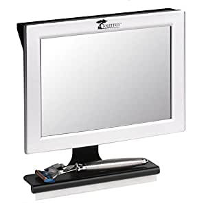 Fogless Shower Mirror with Squeegee by ToiletTree Products. Guaranteed Not to Fog, Designed Not to Fall.