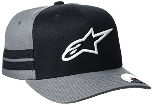Alpinestars Herren Sideline Männern Logo Flexfit Hat Flex Back Baseball Cap Größe L Grau (Anthrazit)