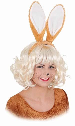 narrenkiste O43831 braun Damen Hasenohren Haarreif - Braun Hasenohren Kostüm
