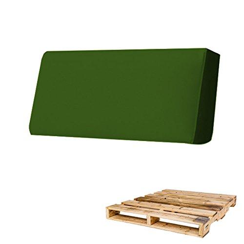 Arketicom Rückenlehne für Sofa Euro-Palette in verschiedenen Größen und Farben für innen und außen, hergestellt in Italien zeitgenössisch 120x30x15 dunkelgrün