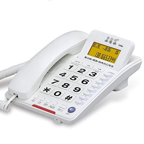 Teléfono de Escritorio con botón Grande con Altavoz, calculadora básica e identificador de Llamadas
