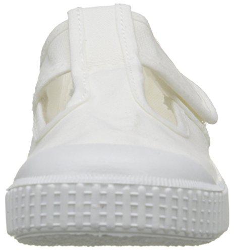 Victoria Sandalia Lona Tintada Velcro, Baskets Basses Mixte Enfant Blanc (20 Blanco)